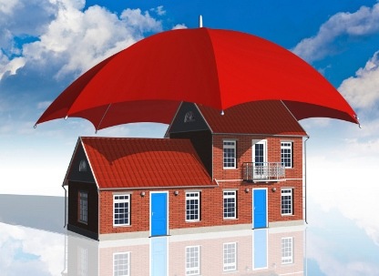 umbrella covering house